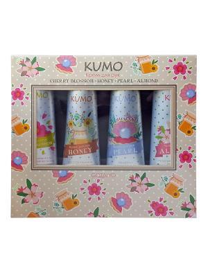 Набор Kumo кремов для рук Cherry Blossom, 30 г + Honey, Pearl, Almond Gotaiyo. Цвет: прозрачный