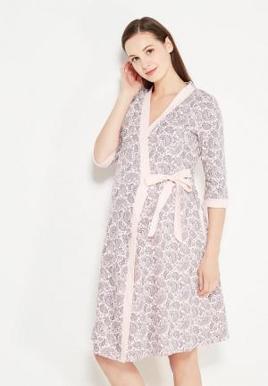 Комплект сорочка и халат Hunny mammy. Цвет: розовый