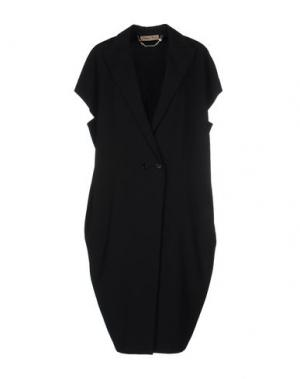 Легкое пальто MARIAGRAZIA PANIZZI. Цвет: черный