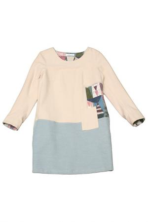 Платье Vitacci. Цвет: бежевый