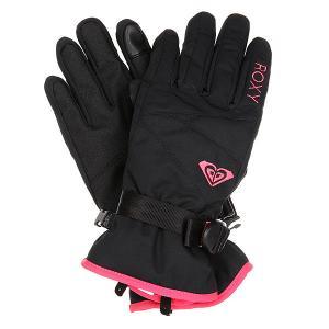 Перчатки сноубордические женские  Rxjettysolidglv True Black Roxy. Цвет: черный