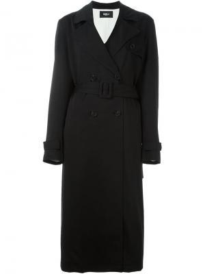 Двубортное пальто Yang Li. Цвет: чёрный