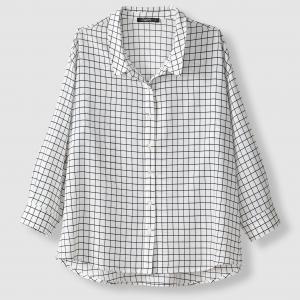 Блузка с длинными рукавами, в клетку, CHILA SCHOOL RAG. Цвет: черный