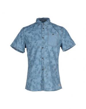 Джинсовая рубашка BLEND. Цвет: синий