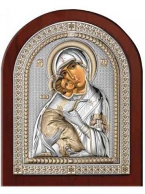 Икона Владимирская Божья Матерь NAVELL. Цвет: коричневый, серебристый