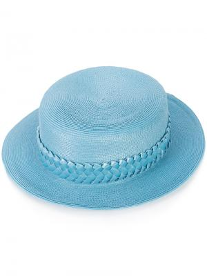 Соломенная шляпа Gigi Burris Millinery. Цвет: синий