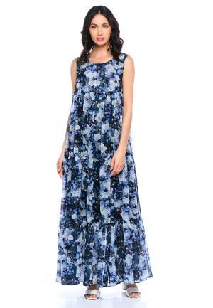 Платье Lucky Move. Цвет: синий