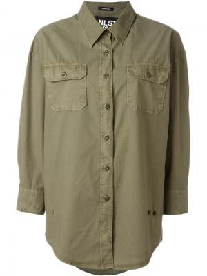 Рубашка с нагрудным карманом Nlst. Цвет: зелёный