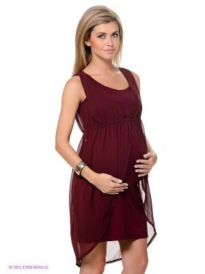 Платье ESPRIT. Цвет: бордовый