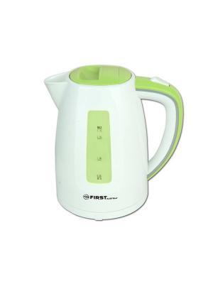 Чайник FIRST 5427-7 , пластиковый Мощность 2200 Вт.Максимальный объем 1.7 л White/Green. Цвет: белый