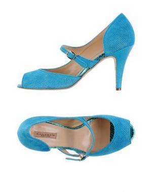 Туфли GAIA D'ESTE. Цвет: небесно-голубой