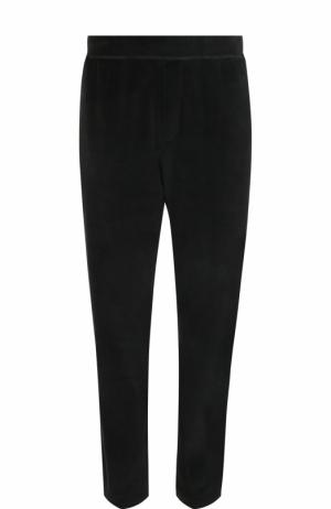 Хлопковые брюки прямого кроя Ermenegildo Zegna. Цвет: черный