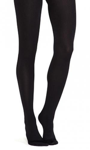 Full foot fleece lined tights Plush. Цвет: черный