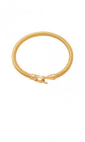 Браслет jordan Amber Sceats. Цвет: металлический золотой
