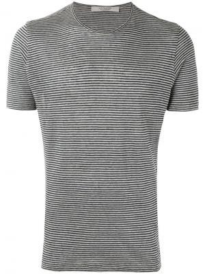 Полосатая трикотажная футболка La Fileria For Daniello D'aniello. Цвет: синий