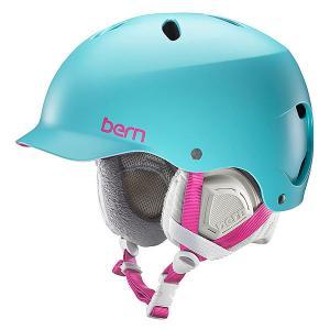 Шлем для сноуборда женский  Snow EPS Lenox Satin Aqua/Grey Liner Bern. Цвет: голубой