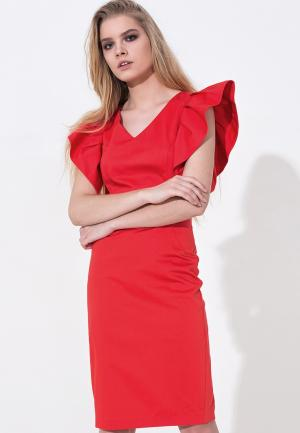 Платье LO. Цвет: красный
