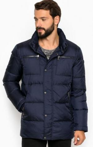Однотонная куртка из полиэстера LAGERFELD. Цвет: синий