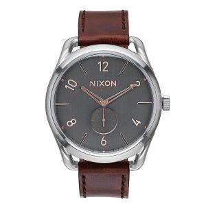 Часы  Leather Gray/Rose Gold Nixon. Цвет: серый,коричневый