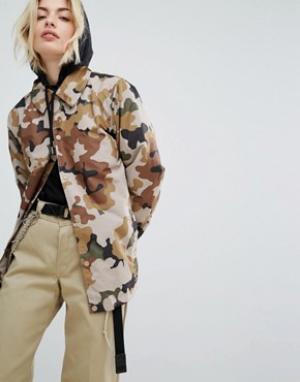 Dickies Спортивная куртка с камуфляжным принтом. Цвет: коричневый
