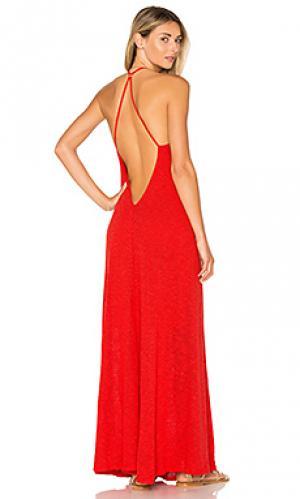 Макси платье shay Mia Marcelle. Цвет: красный