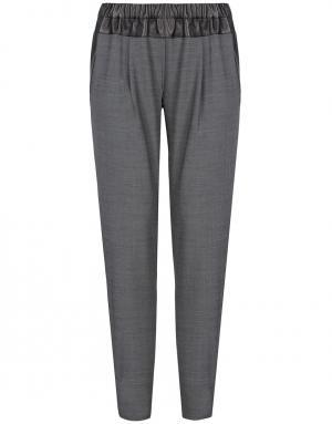 Шерстяные брюки Thakoon Addition. Цвет: серый, черный
