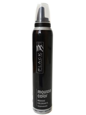 Цветной мусс для укладки волос (серебро) Black. Цвет: черный