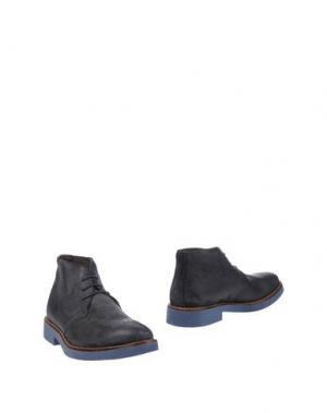 Полусапоги и высокие ботинки 1° GENITO. Цвет: темно-синий
