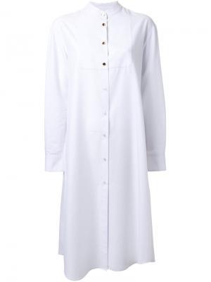 Платье с длинными рукавами Macgraw. Цвет: белый