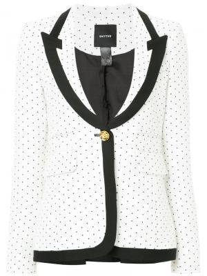 Пиджак с заостренными лацканами Smythe. Цвет: белый