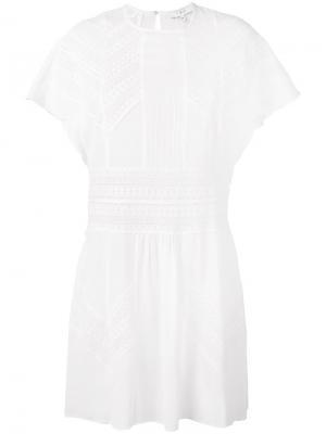 Пляжное платье с вышивкой Iro. Цвет: белый