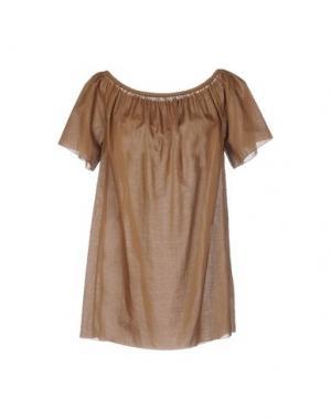 Блузка CARLA G.. Цвет: коричневый