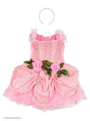 Карнавальный костюм Дюймовочка Батик. Цвет: розовый, прозрачный