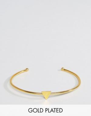 Ottoman Hands Браслет с треугольной вставкой. Цвет: золотой