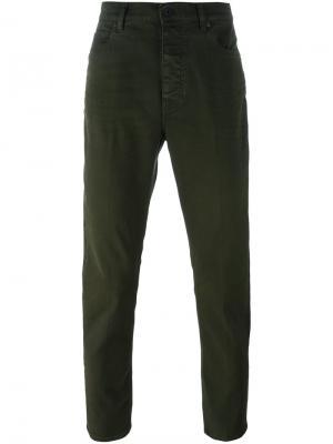 Прямые брюки чинос Pence. Цвет: зелёный