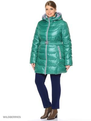 Пальто MOHNASS. Цвет: зеленый