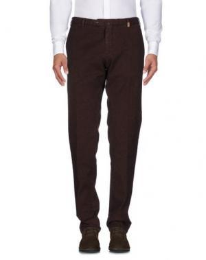 Повседневные брюки GIO ZUBON. Цвет: какао