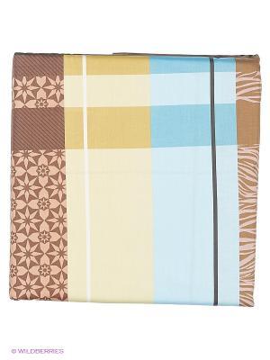 Комплект постельного белья из сатина 1,5 спальный Василиса. Цвет: коричневый