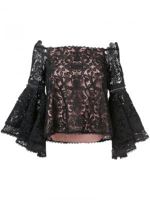 Блузка a Alexis. Цвет: чёрный