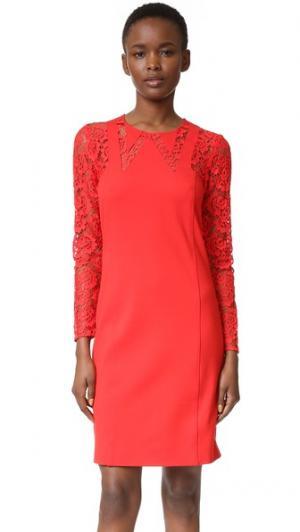 Платье с воротником Sonia by Rykiel. Цвет: ярко-красный