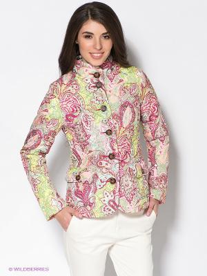 Куртка Baon. Цвет: бледно-розовый, фуксия, желтый