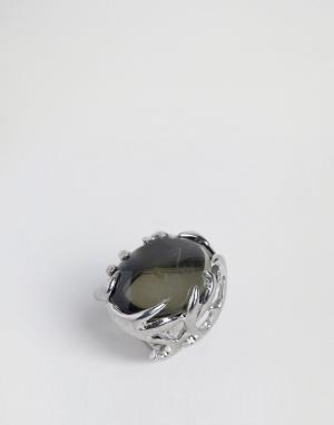 House of Harlow Посеребренное кольцо с оленьими рогами. Цвет: серебряный