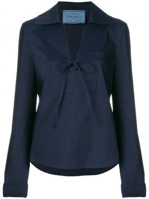 Костюм с укороченными брюками Prada. Цвет: синий