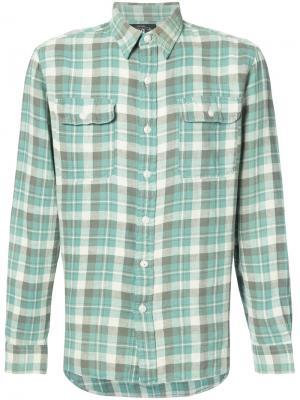 Рубашка в полоску Rrl. Цвет: зелёный