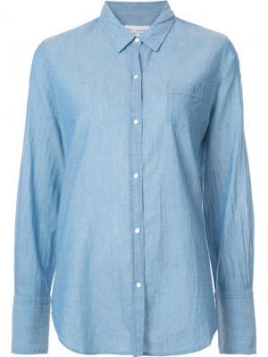 Джинсовая рубашка кроя слим Nili Lotan. Цвет: синий