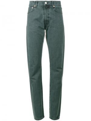 Прямые джинсы с завышенной талией Holiday. Цвет: синий
