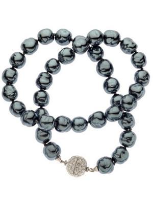 Ожерелье из темного жемчуга CHARMELLE. Цвет: серый