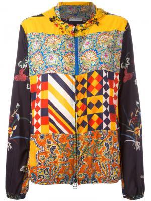 Куртка с принтом и капюшоном Pierre-Louis Mascia. Цвет: многоцветный