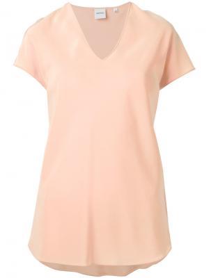 Узкая футболка с V-образным вырезом Aspesi. Цвет: жёлтый и оранжевый