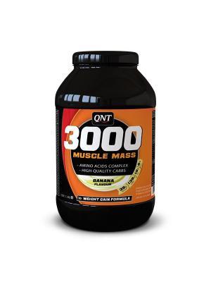 Гейнер QNT Muscle Mass 3000 (банан),1,3 кг. Цвет: черный